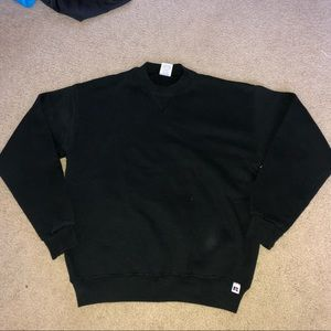 Black mock neck sweater